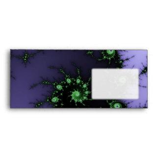 Fractal Snail - green and purple fractal design Envelopes