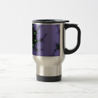 Fractal Snail - green and purple fractal design Travel Mug