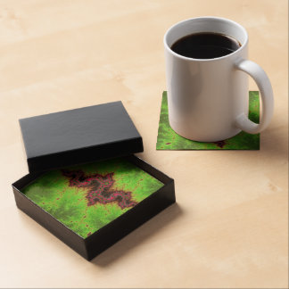 Fractal Snake - pink, fuchsia and neon green Coasters