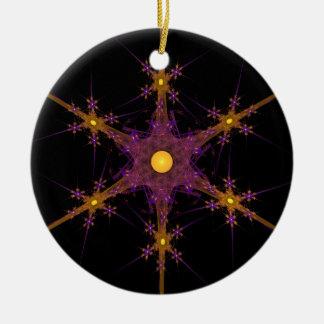 Fractal Snowflake Star Ornament