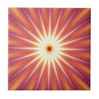 fractal--sol azulejo cuadrado pequeño