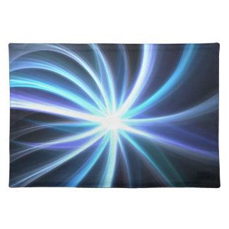Fractal solar brillante azul Starburst Mantel