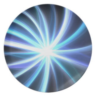 Fractal solar brillante azul Starburst Plato