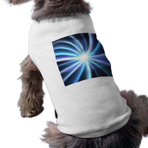 Fractal solar brillante azul Starburst Camiseta De Mascota