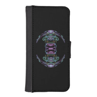 Fractal Spaceship Wallet Phone Case For iPhone SE/5/5s
