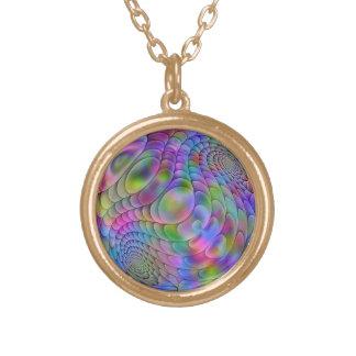 fractal sphere round pendant necklace