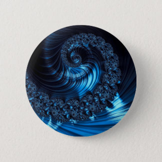 Fractal spiral - abstract computer-generated image pinback button
