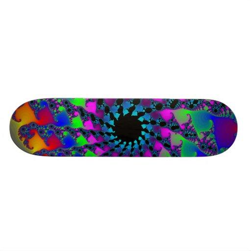 Fractal Spiral: Custom Skateboard