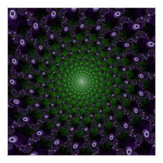 Fractal Spiral Pattern VG Perfect Poster