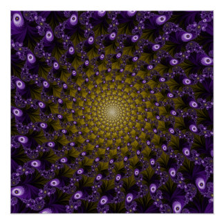 Fractal Spiral Pattern VY Perfect Poster
