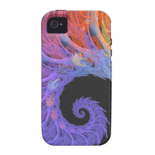 Fractal Spiral Shell Vibe iPhone 4 Covers
