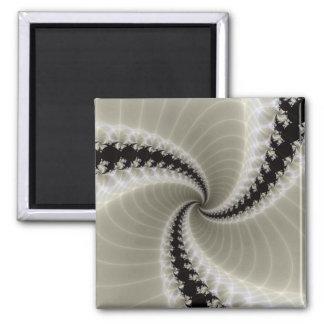 Fractal Spiral Square Magnet