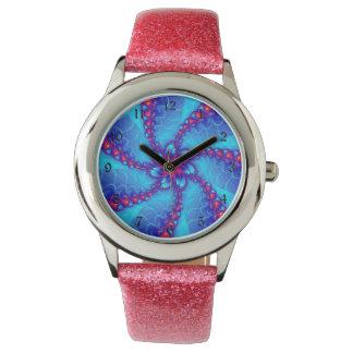 fractal spiral wrist watch