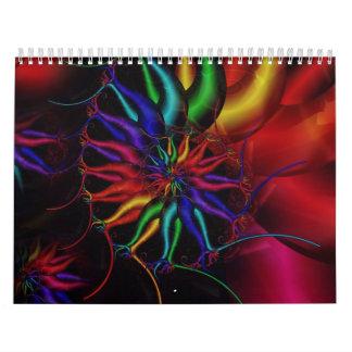 Fractal Spirals Wall Calendars