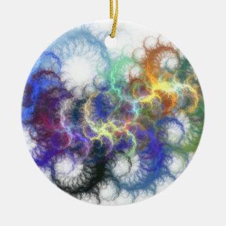 Fractal Spirals Ceramic Ornament