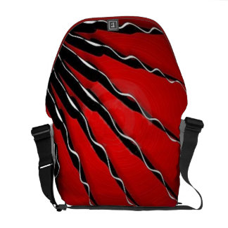 Fractal spirals messenger bag