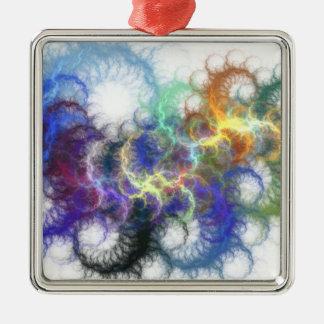 Fractal Spirals Metal Ornament