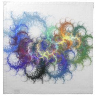 Fractal Spirals Napkin