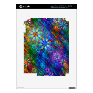 Fractal Spring Swatch Skins For iPad 3