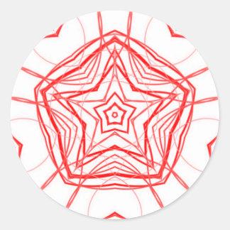 Fractal Star Heart Sacred Geometry Decal Sticker