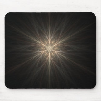 Fractal Star or Snowflake Design Mouse Pad