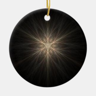 Fractal Star or Snowflake Design Ornaments