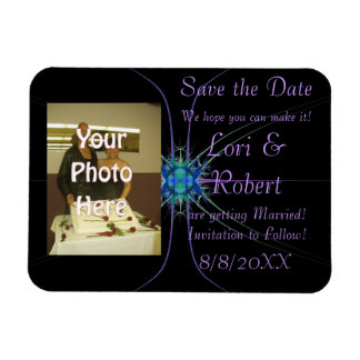 Fractal Star Photo Save the Date! Magnet