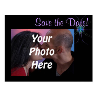 Fractal Star Photo Save the Date Post Cards