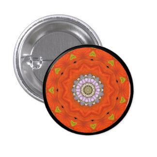 Fractal Star Sacred Geometry Mandala Button Pin