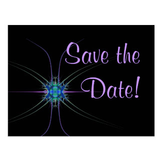 Fractal Star Save the Date Postcards
