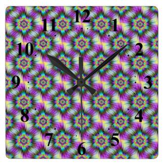 Fractal Star Tiled  Wall Clock