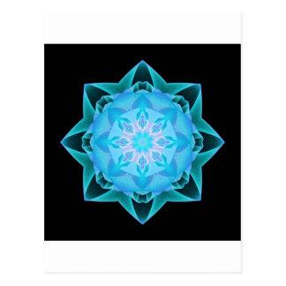 Fractal Stardust azul claro Tarjeta Postal