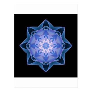 Fractal Stardust azul marino Tarjetas Postales