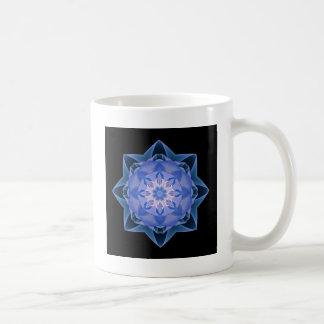 Fractal Stardust azul marino Taza De Café