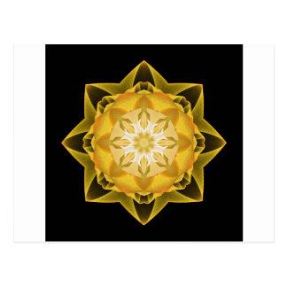Fractal Stardust gold Postcard