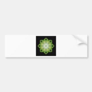 Fractal Stardust green Car Bumper Sticker