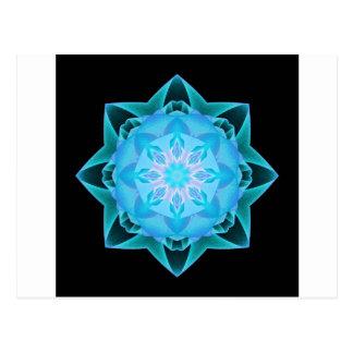 Fractal Stardust lightblue Postcard