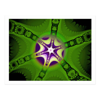 Fractal starfish 2 postcard