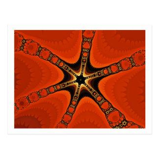 Fractal starfish postcard