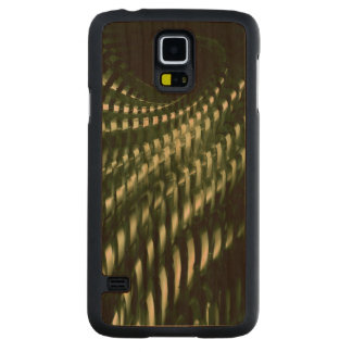 Fractal structure carved cherry galaxy s5 slim case
