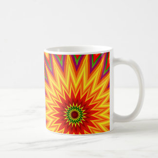 Fractal Sunflower Abstract Floral Art Coffee Mug