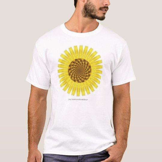 Fractal Sunflower  Tee Shirt