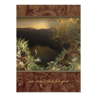 "Fractal Sunrise X-Large Party Invitations 5.5"" X 7.5"" Invitation Card"