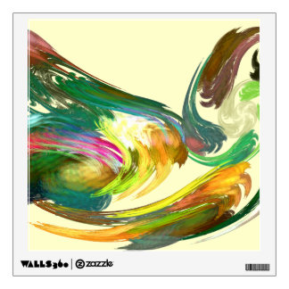 Fractal - Swan Wall Sticker