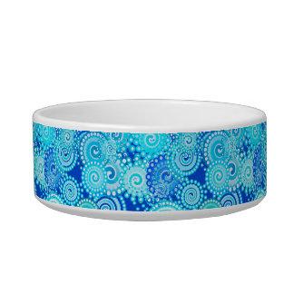 Fractal swirl pattern, cobalt blue bowl