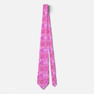 Fractal swirl pattern, pink and fuchsia tie