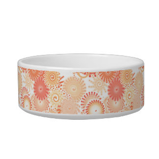 Fractal swirl pattern, shades of coral and peach bowl