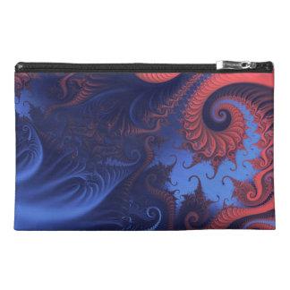 Fractal swirls travel accessory bag