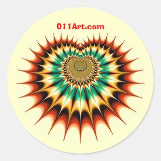 Fractal SX - 011art.com Round Stickers
