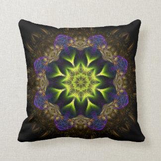 Fractal Tapestry Green Flower Cushion Pillows
